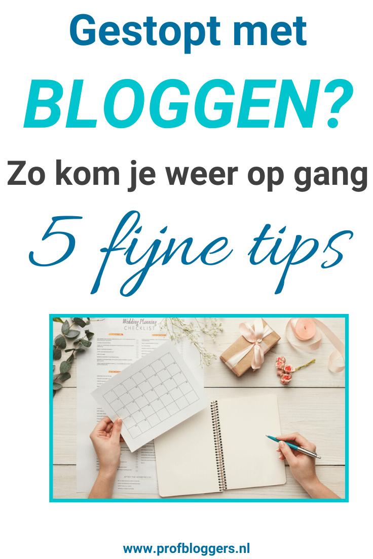 Blogritme verstoord - Gestopt met zakelijk bloggen_ Zo kom je weer op gang - 5 tips