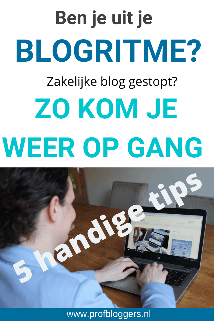 Uit je blogritme? Zo kom je weer op gang
