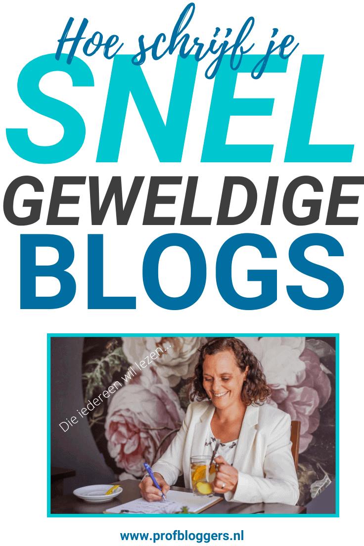Hoe schrijf je snel een geweldige blog?