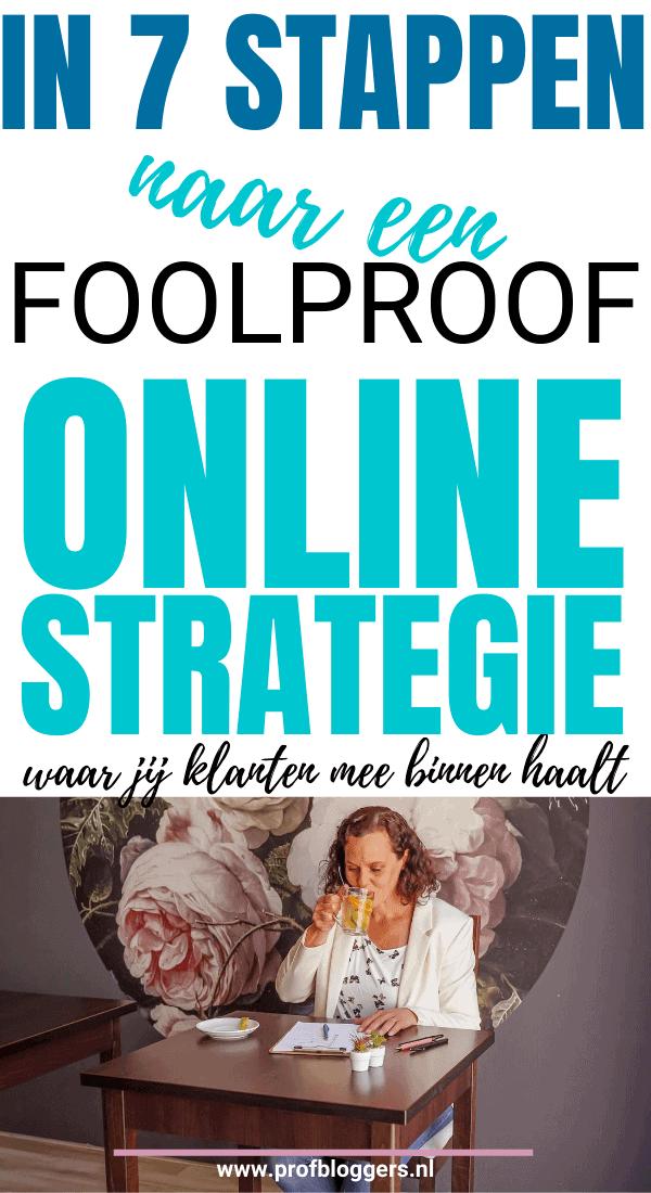 In 7 stappen naar een foolproof online strategie